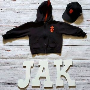 SF GIANTS TODDLER UNISEX ZIP UP HOODIE AND HAT ⚾️